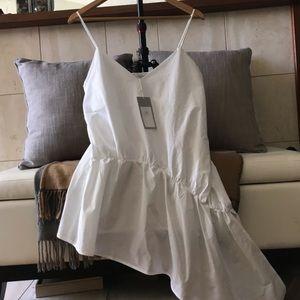 NWT Asymmetric  Sleeveless blouse